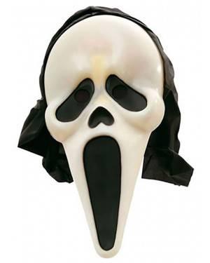 Máscara Scream Fosforescente com Capuz para Carnaval e Festas
