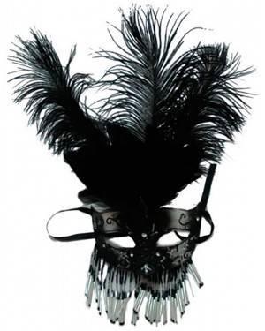 Mascarilha de Penas Pretas, Loja de Fatos Carnaval, Disfarces, Artigos para Festas, Acessórios de Carnaval, Mascaras, Perucas, Chapeus 179 acasadocarnaval.pt