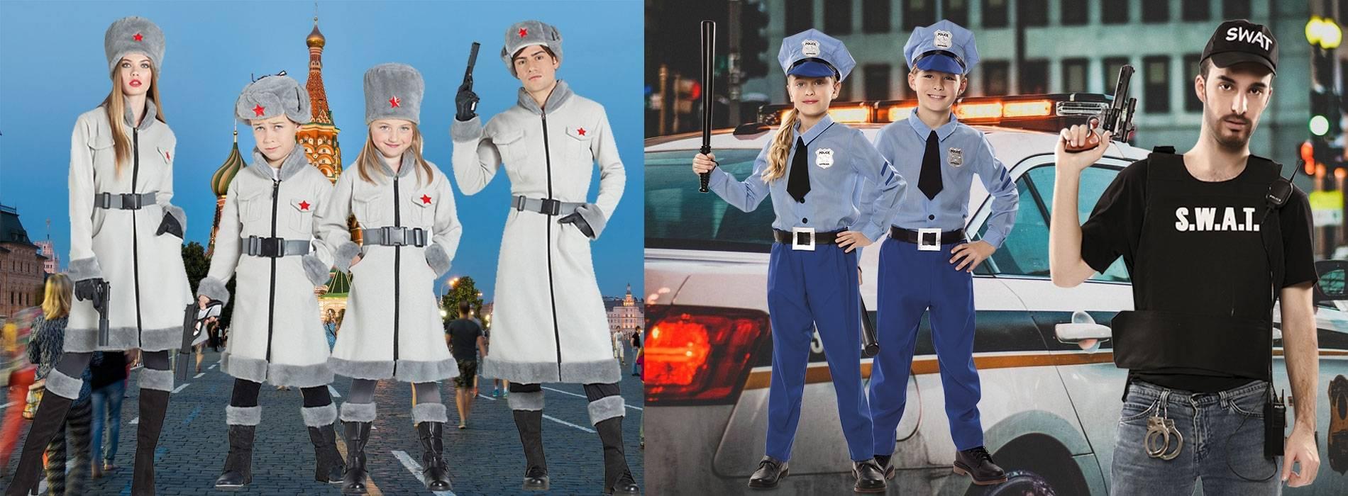 Novos disfarces de espiões e policiais