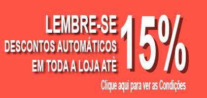 LEMBRE-SE, DESCONTOS AUTOMÁTICOS ATÈ 15% EM TODA A LOJA www.acasadocarnaval.pt